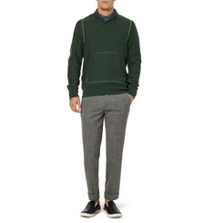 Kolor Fleece-Backed Cotton-Blend Sweatshirt