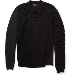 Kolor Contrast-Knit Wool Sweater