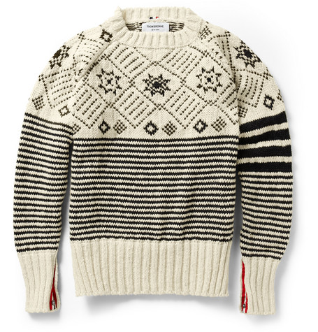 Thom Browne Fair Isle Wool Sweater
