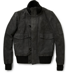 Burberry Brit Suede Bomber Jacket