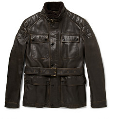 Burberry Brit Leather Motorcycle Jacket