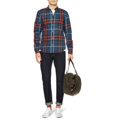 Burberry Brit Plaid Cotton Shirt