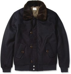 Hartford Quilted Wool-Blend Bomber Jacket