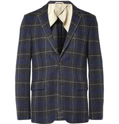 Hartford Slim-Fit Unstructured Check Wool Blazer