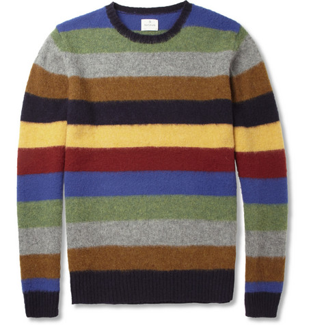 Hartford Striped Shetland Wool Sweater