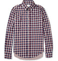 Hartford - Contrast-Back Check Cotton Shirt