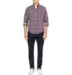 Hartford Contrast-Back Check Cotton Shirt