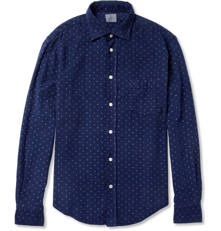 Hartford Printed Garment-Dyed Corduroy Shirt