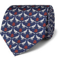 Dunhill - Pheasant-Print Mulberry Silk Tie