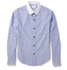 Band of Outsiders Contrast-Collar Woven-Cotton Oxford Shirt