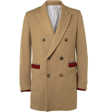 Band of Outsiders Double-Breasted Wool-Blend Corduroy Coat