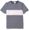 Band of Outsiders - Contrast Striped Cotton T-Shirt