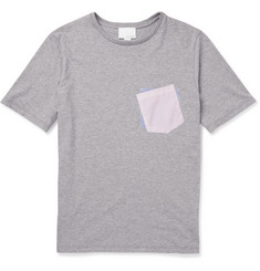 Band of Outsiders Contrast-Pocket Cotton-Jersey T-Shirt