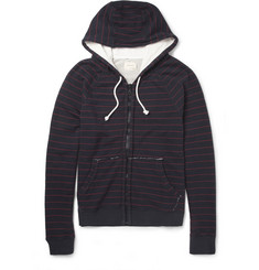 Band of Outsiders Striped Loopback Cotton-Jersey Hoodie