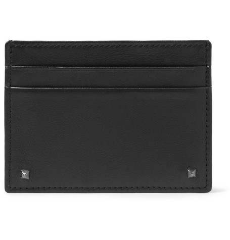 Valentino Studded Leather Card Holder
