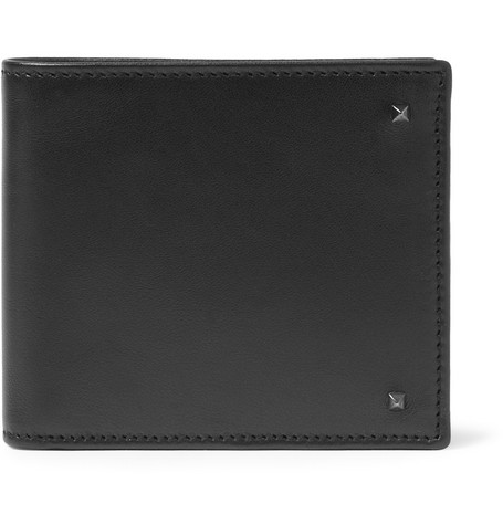 Valentino Studded Leather Billfold Wallet