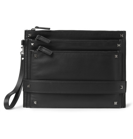 Valentino Studded Leather Pouch
