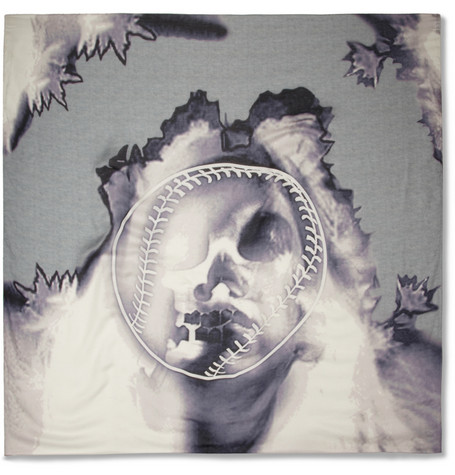 Givenchy Skull-Print Modal and Cashmere-Blend Scarf