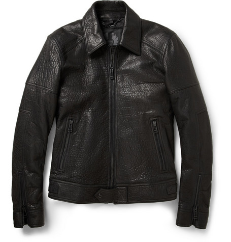 Belstaff Marshe Textured-Leather Jacket