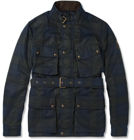 Belstaff GSR Gordon Plaid Waxed-Cotton Jacket