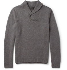 Rag & bone Nelson Flecked Shawl-Collar Wool Sweater