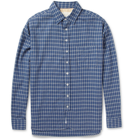 Rag & bone Plaid Cotton-Blend Shirt
