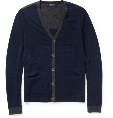 Rag & bone Elliot Fine-Knit Merino Wool Cardigan