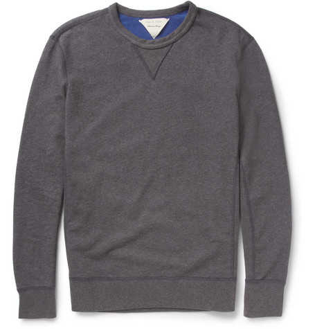 Rag & bone Reversible Loopback Cotton-Jersey Sweatshirt