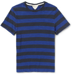 Rag & bone Striped Fine-Knit Cotton T-Shirt