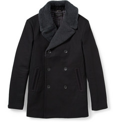 Rag & bone Hague Shearling-Collar Cotton-Blend Peacoat