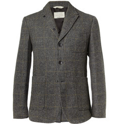 Rag & bone Slim-Fit Check Wool Blazer