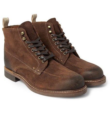 Rag & bone Rowan Burnished-Suede Boots