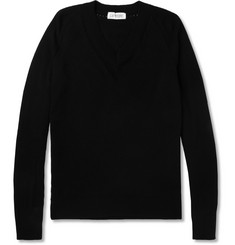 Exemplaire Slim-Fit V-Neck Cashmere Sweater