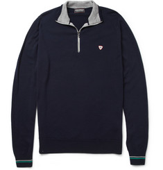 John Smedley Whitaker Zip-Collar Merino Wool Sweater