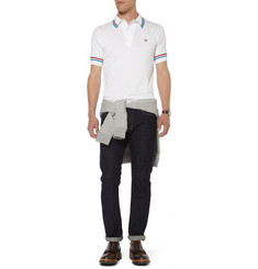 John Smedley Cambourne Knitted Sea Island Cotton Polo Shirt