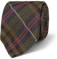Drake's Plaid Grenadine Silk Tie