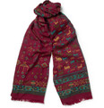 Drake's - Printed Wool and Silk-Blend Scarf