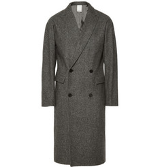 Wooyoungmi Double-Breasted Herringbone Wool Overcoat