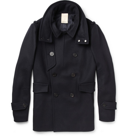 Wooyoungmi Slim-Fit Wool-Blend Peacoat