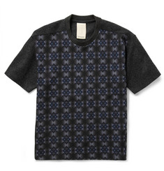 Wooyoungmi Printed Neoprene and Wool-Blend Felt T-Shirt