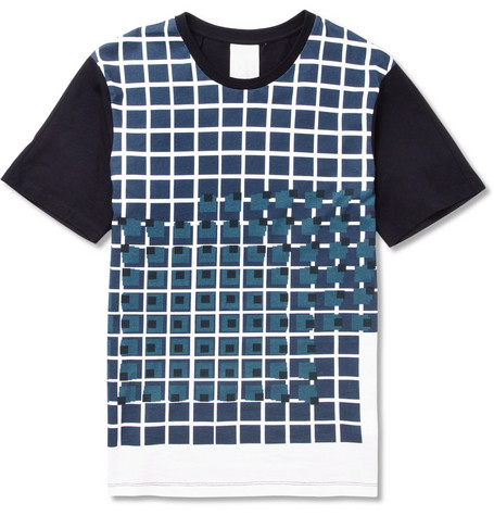 Wooyoungmi Printed Cotton-Jersey T-shirt