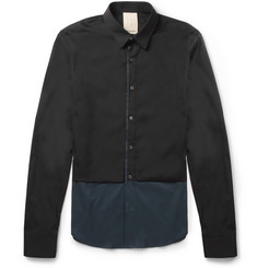 Wooyoungmi Slim-Fit Panelled Cotton-Blend Shirt