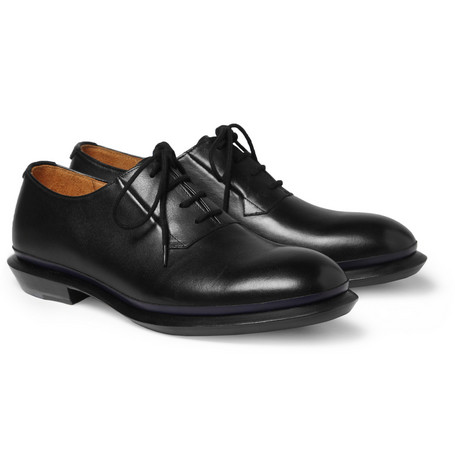 Wooyoungmi Contrast-Trim Leather Derby Shoes