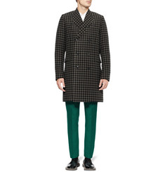 Paul Smith Houndstooth Check Wool-Blend Coat