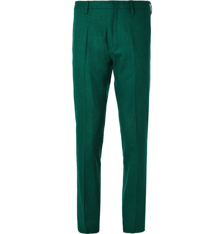 Paul Smith Slim-Fit Cropped Wool and Cashmere-Blend Trousers
