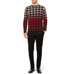 Paul Smith Slim-Fit Ombre Houndstooth Wool-Blend Sweater