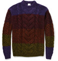 Paul Smith Striped Cable-Knit Sweater