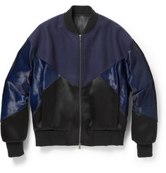 Neil Barrett Panelled Wool-Blend Bomber Jacket