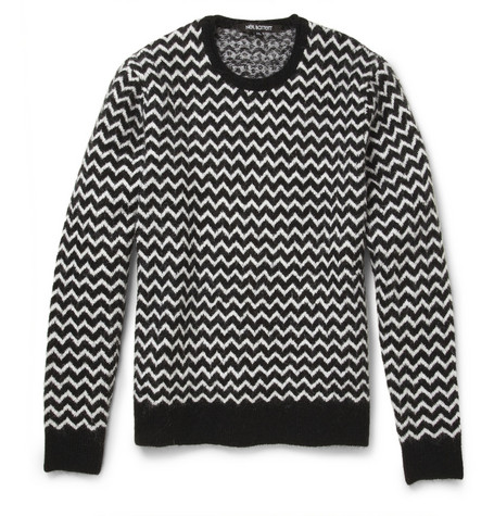 Neil Barrett Zig-Zag Patterned Knitted Sweater