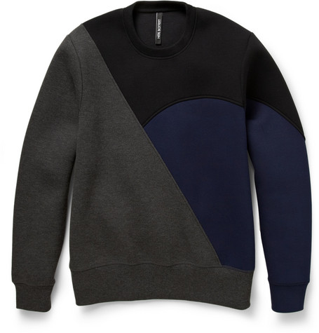 Neil Barrett Colour-Block Bonded-Jersey Sweatshirt